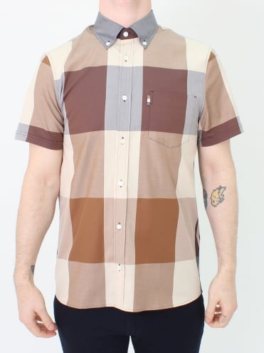 Henlake Giant Club Check Shirt - Vicuna