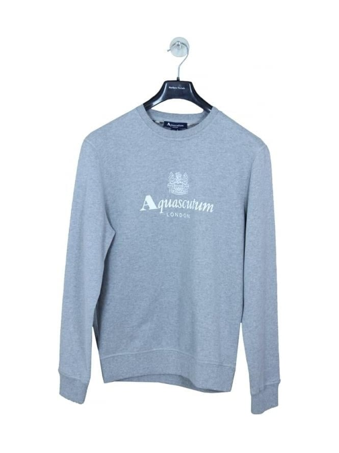 Aquascutum Henry Crew Neck Logo Sweat - Grey