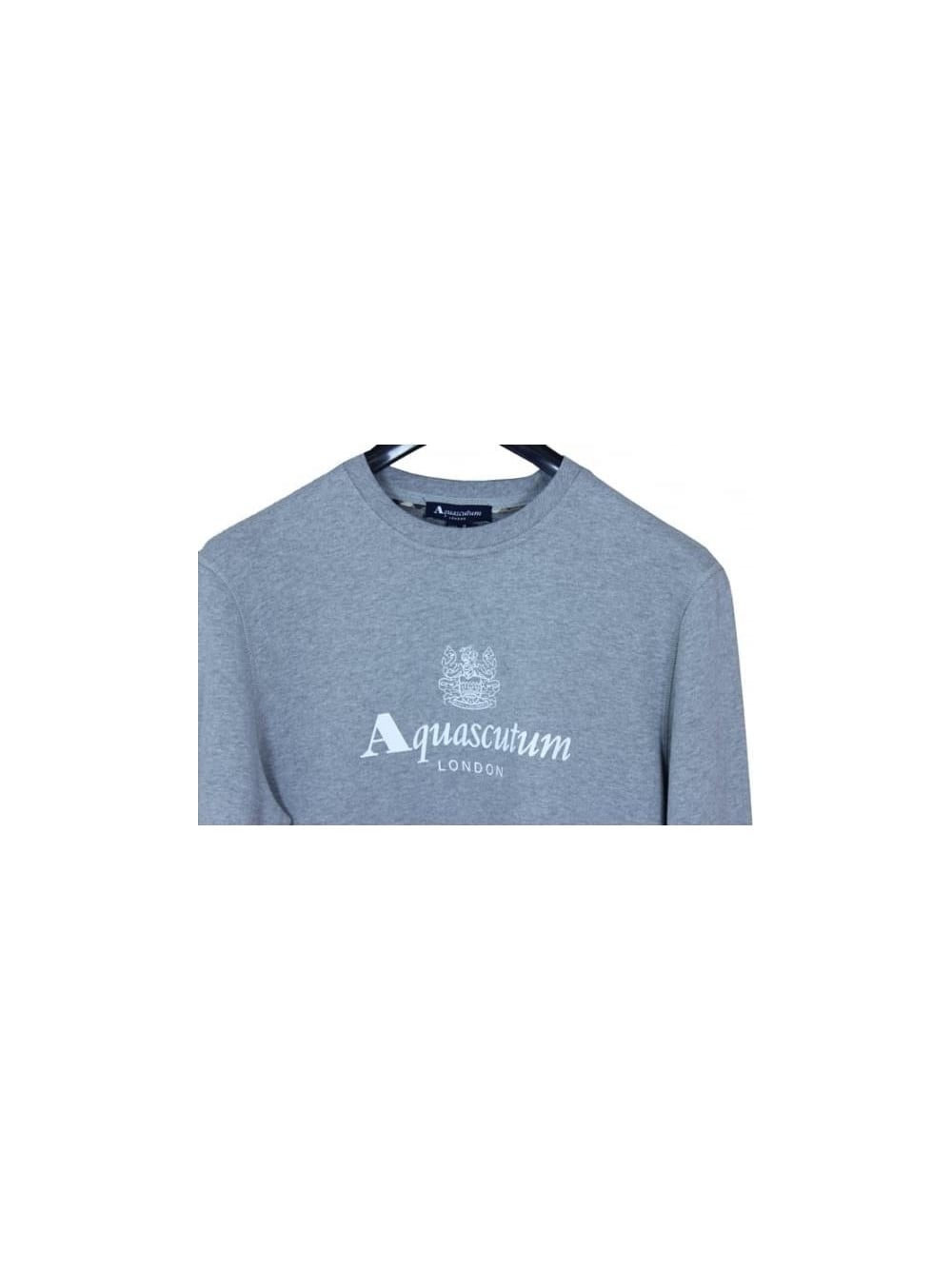 67725476a46 Henry Crew Neck Logo Sweat - Grey