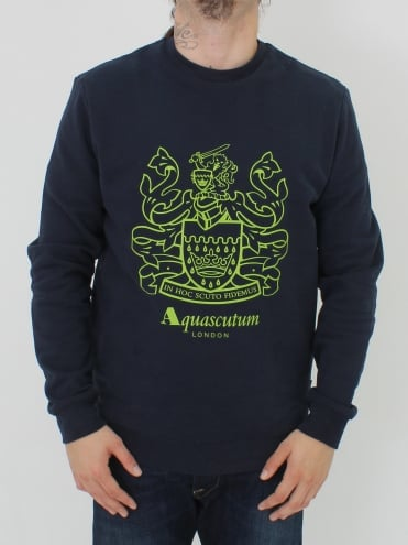 Ives Crest Crew Neck Sweat - Navy