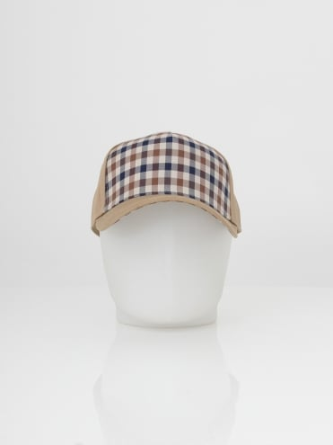 Kiril Club Check Front Cap - Camel