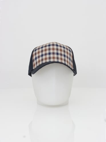 Kiril Club Check Front Cap - Navy