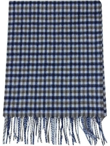 Lambswool Club Check Scarf - Vicuna