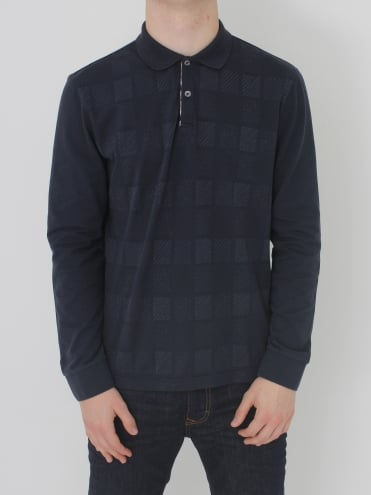 Leon Linea Check Polo - Navy