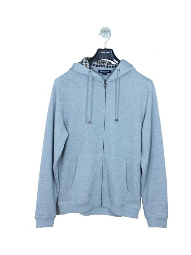 Aquascutum Luther Hooded Sweat - Grey Marle