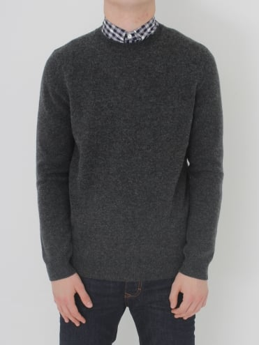 Pennington Elbow Patch Knit - Charcoal