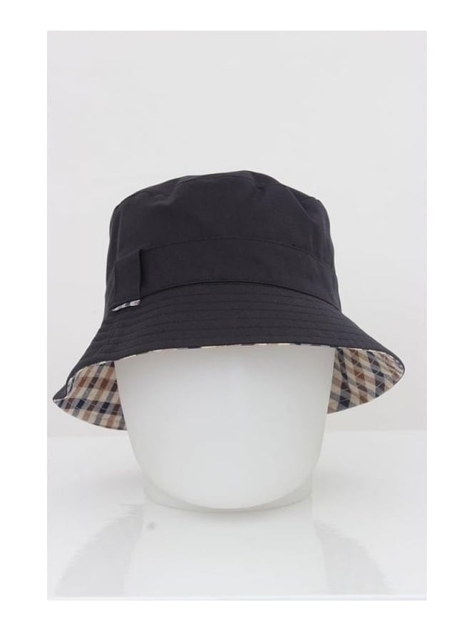 0016017fed3 Aquascutum Reversible Bucket Hat In Navy - Northern Threads