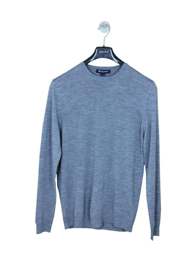 Aquascutum Rolfe Crew Neck Knit - Grey