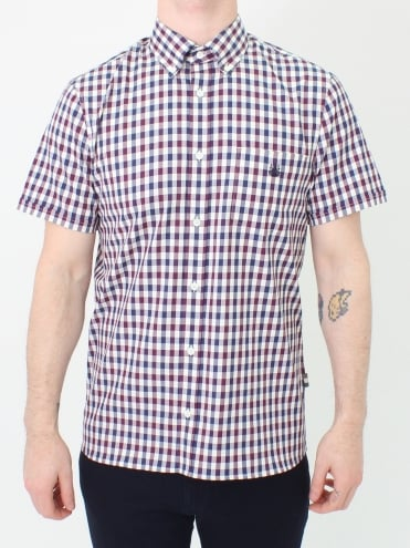 York Club Check S/S Shirt - Mulberry