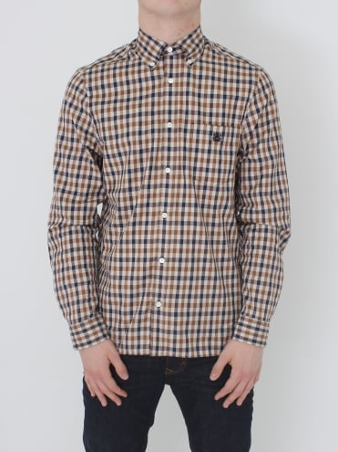York Club Check Shirt - Vicuna