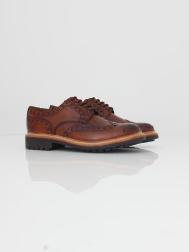 Archie Handpainted Brogue - Tan