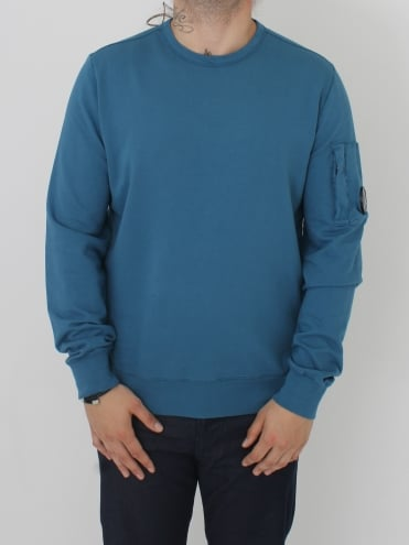 Arm Lens Crew Neck Sweat - Porcelain