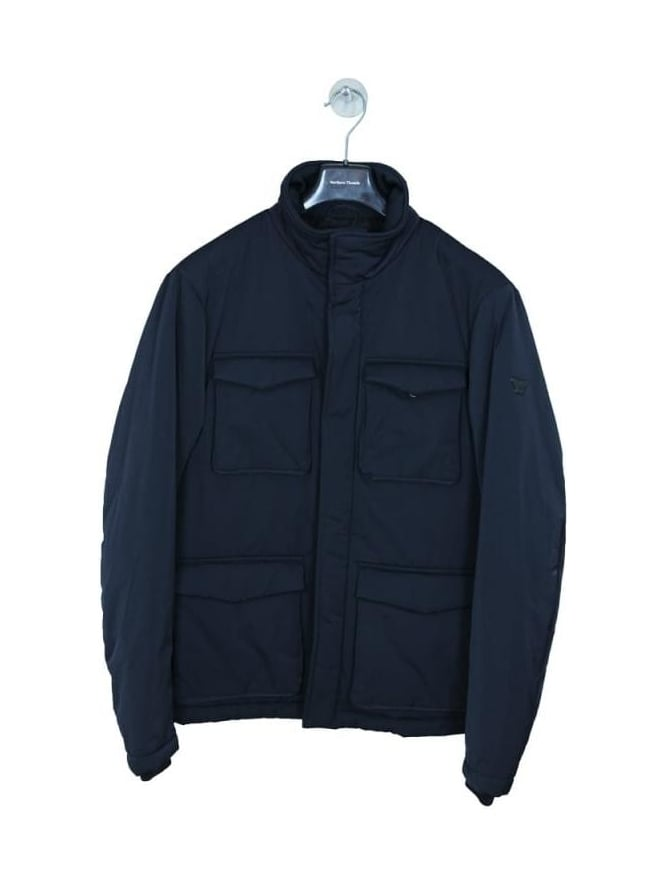 Armani Jeans 4 Pocket Water Repellent Caban - Navy