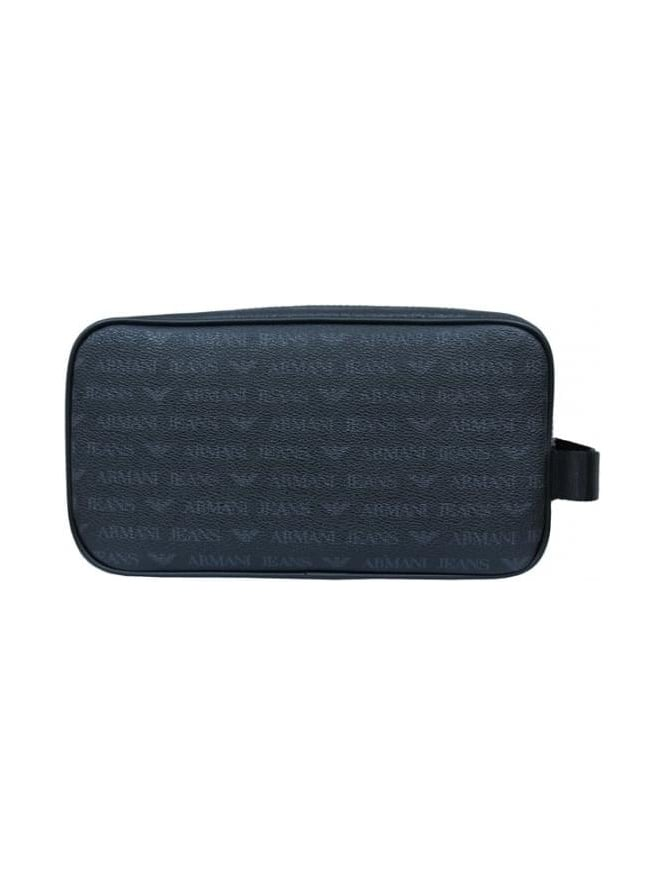 d6775361d178 Armani Jeans All Over Print Washbag In Black