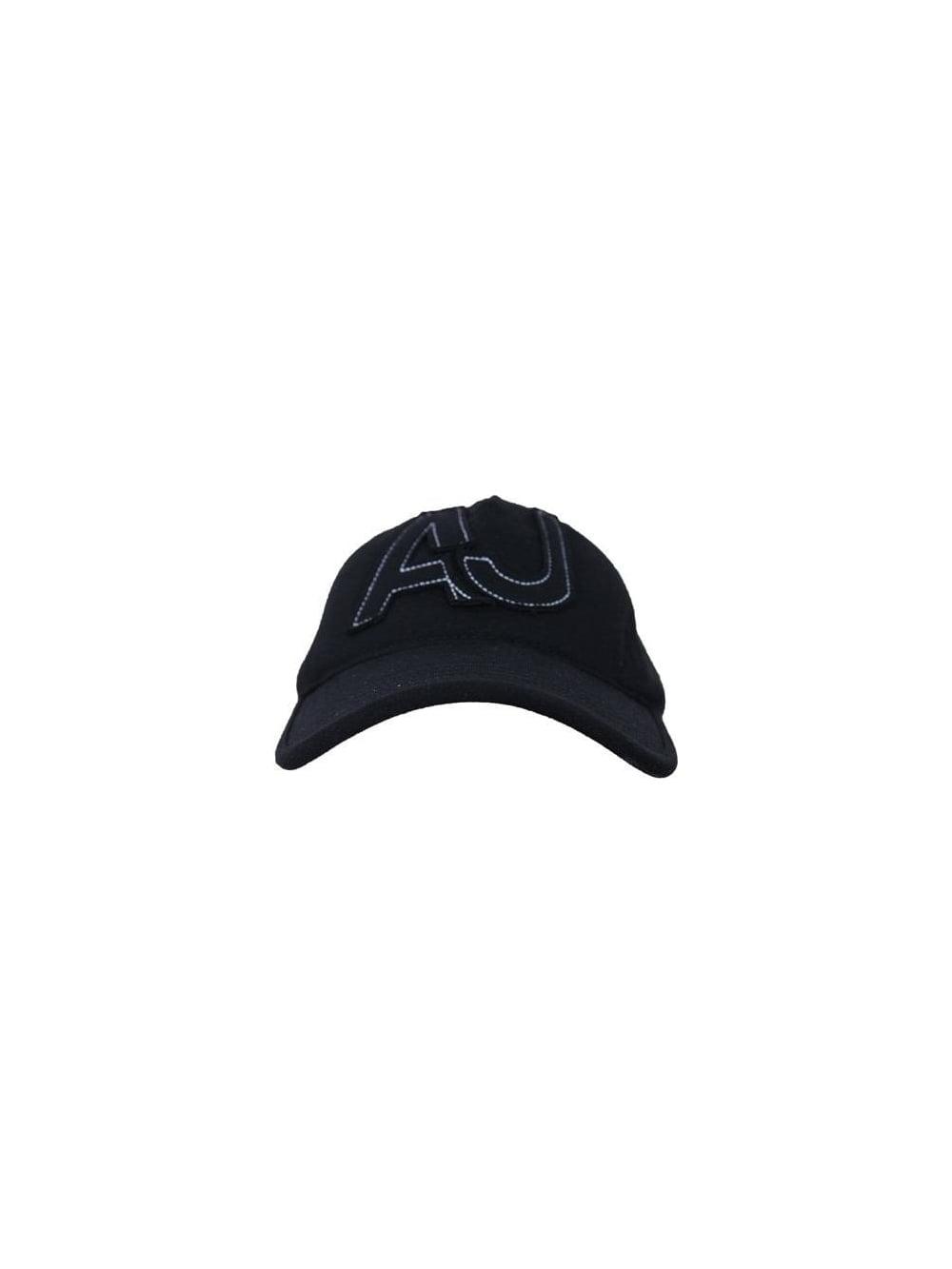 Armani Jeans Applique Velcro Fastening Cap in Black - Northern Threads 451baa44937