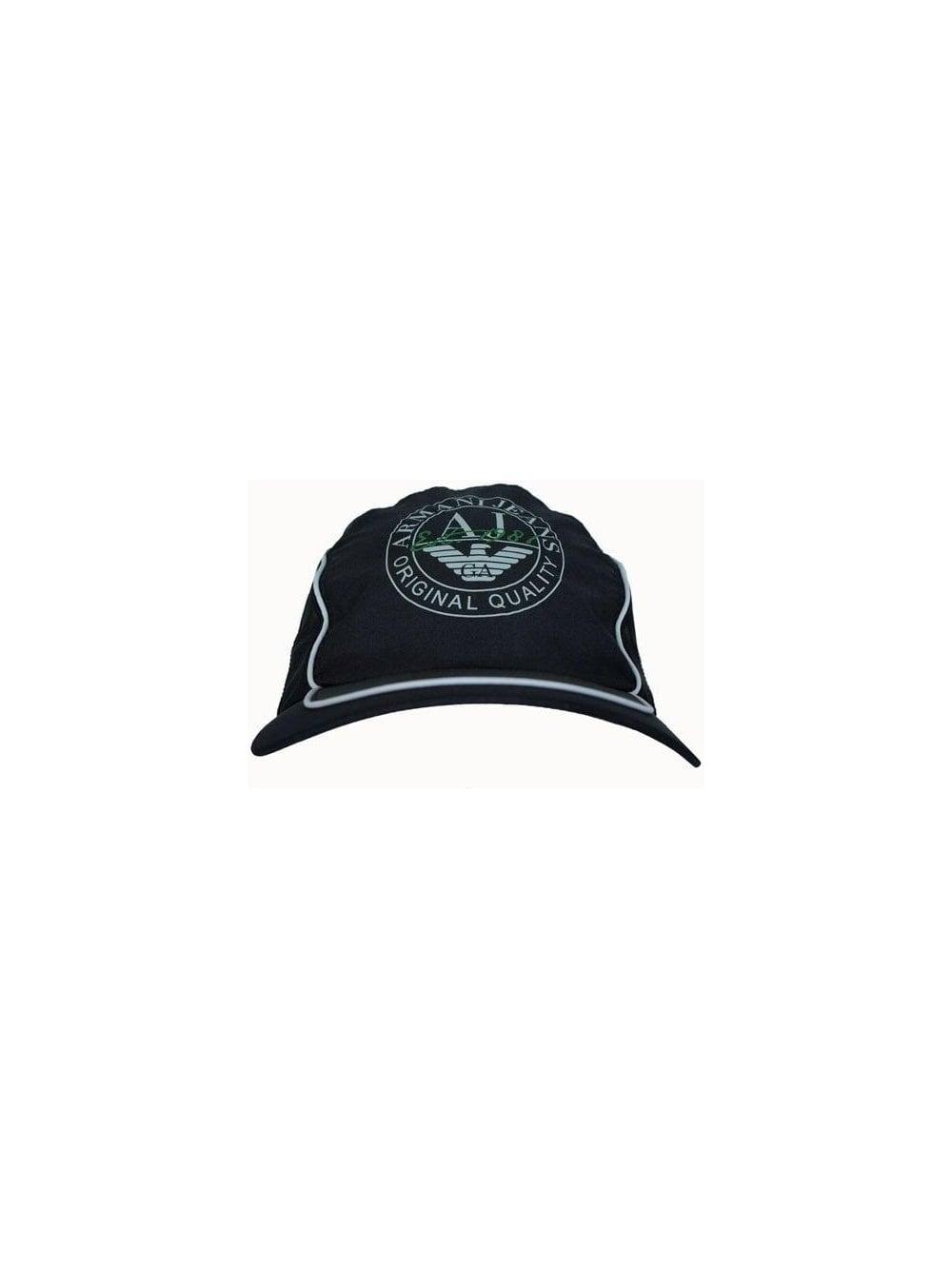 Armani Jeans Nylon Peak Cap - Black - Mens Designer Caps at Northern ... 431fe92e2bf