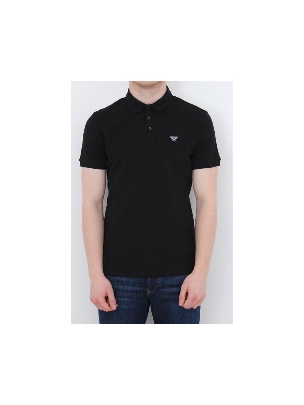 Armani Jeans Classic Logo Polo In Black - Northern Threads cfad53ab6