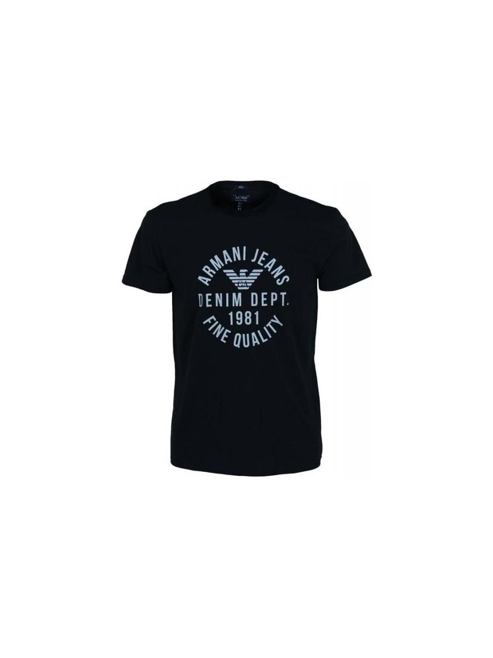 Jeans Armani Threads Black shirt Northern Slim Dept 1981 In Denim T gPwPOqd