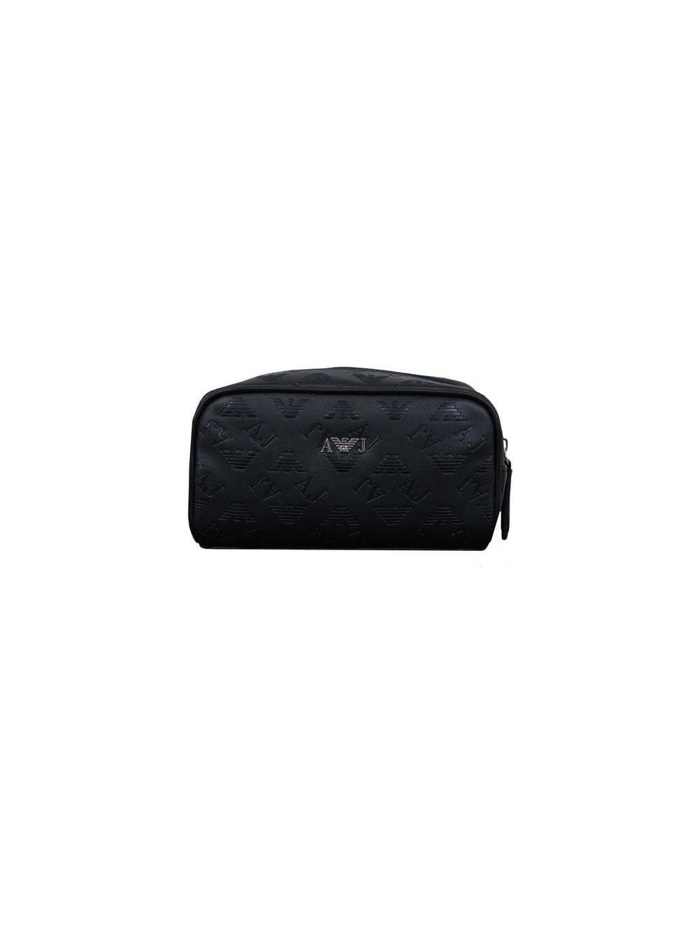 6532c4aede05 Armani Jeans Embossed Logo Toiletry Bag in Black - Northern Threads