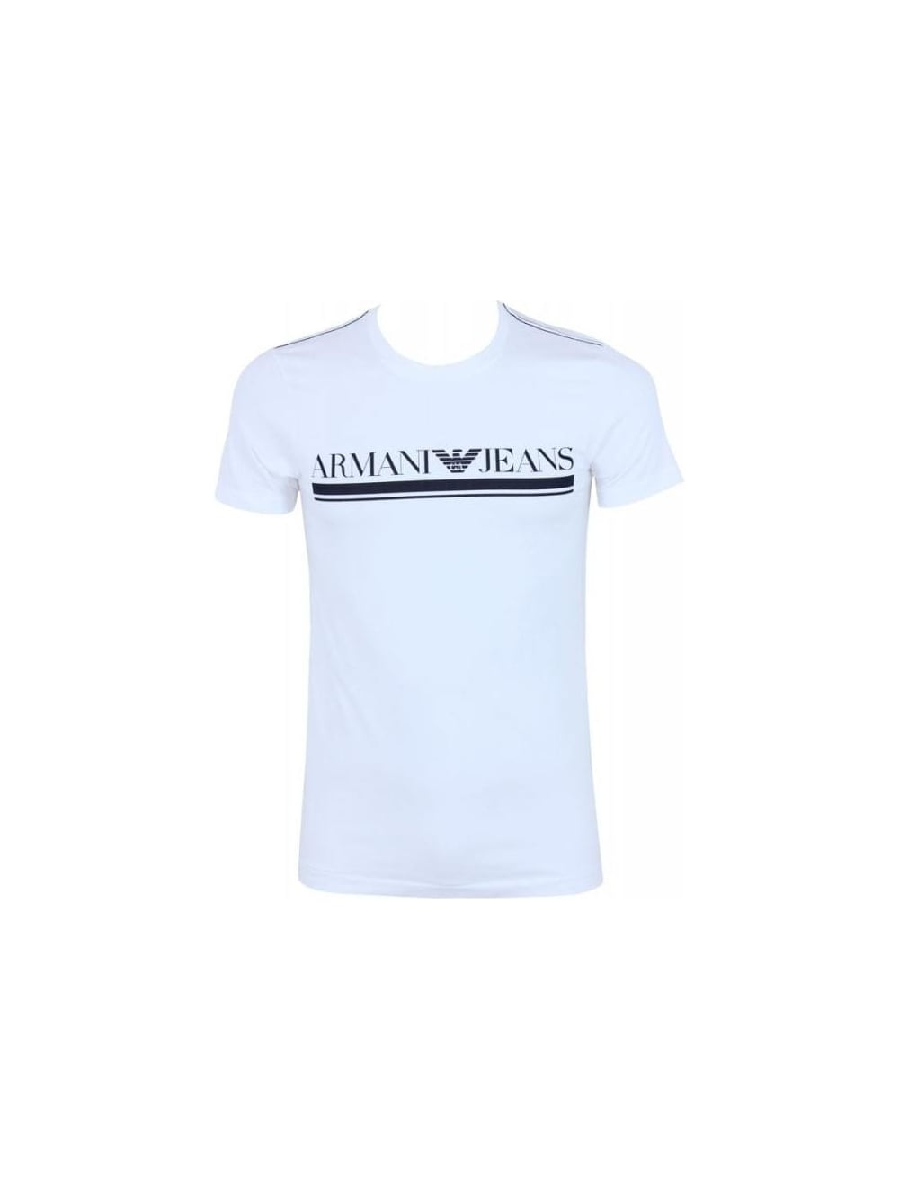 8e7bf2e1 Armani Jeans Underlined AJ Logo T.Shirt in White - Northern Threads