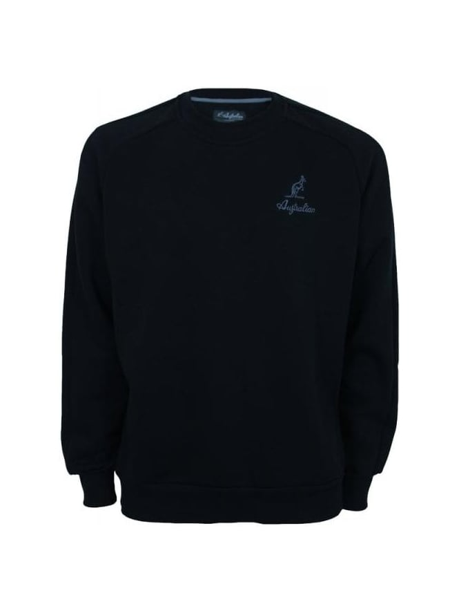Australian Tonal Logo Sweat - Black