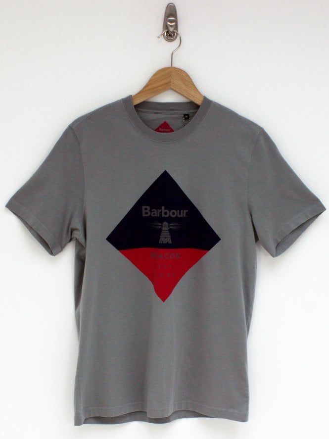 Barbour Beacon Diamond T.Shirt - Grey