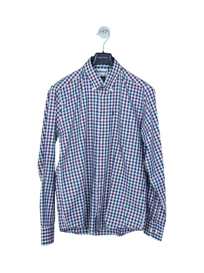 Barbour Bibury Check Shirt - Plum