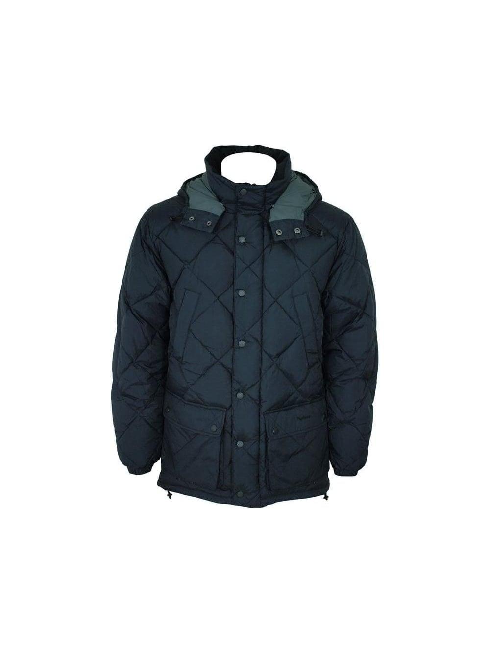 Mens Designer Coats Uk | Barbour Barbour Down Explorer Jacket Black Barbour Mens
