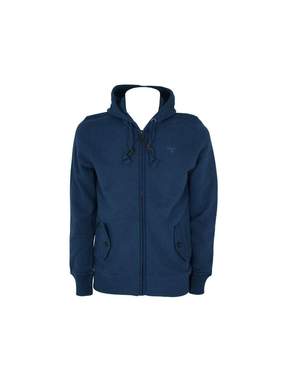 3d59f792ee3f4 Barbour - Barbour Essential Hooded Sweat - Navy Marle - Barbour ...