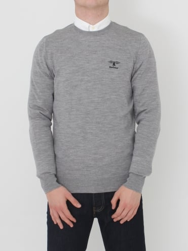Harley Crew Neck Knit - Grey