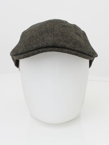 Barbour Herringbone Tweed Cap - Olive