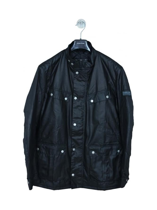 Barbour International Duke Wax Jacket - Black