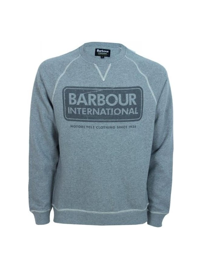 Barbour International Logo Sweat - Grey