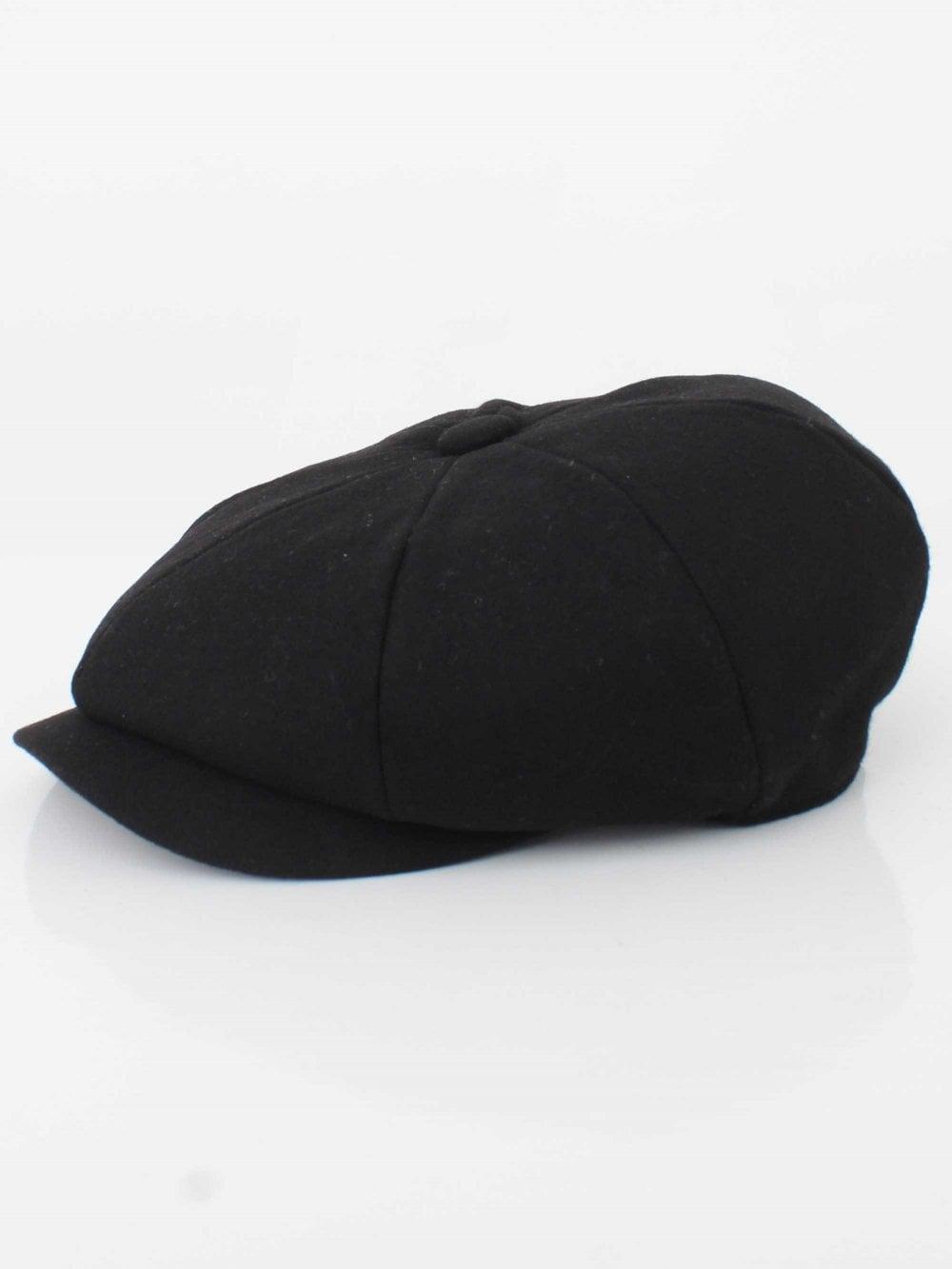 Barbour Melton Bakerboy Cap in Black  21ccd79e98a