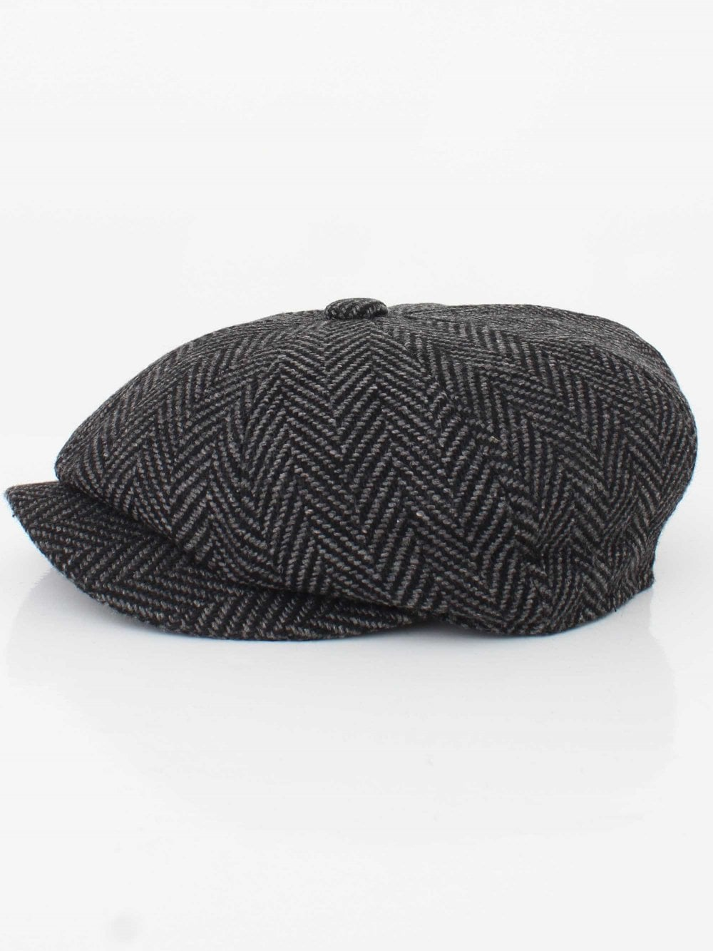 Barbour Mixed Tweed Bakerboy Cap in Grey  0acd590dcea