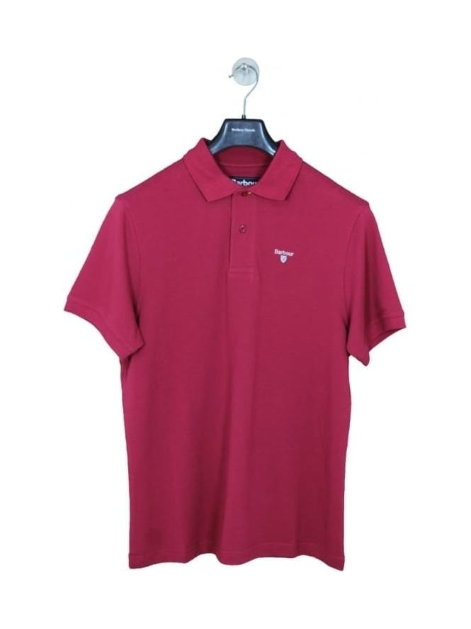 Barbour Sports Polo - Raspberry