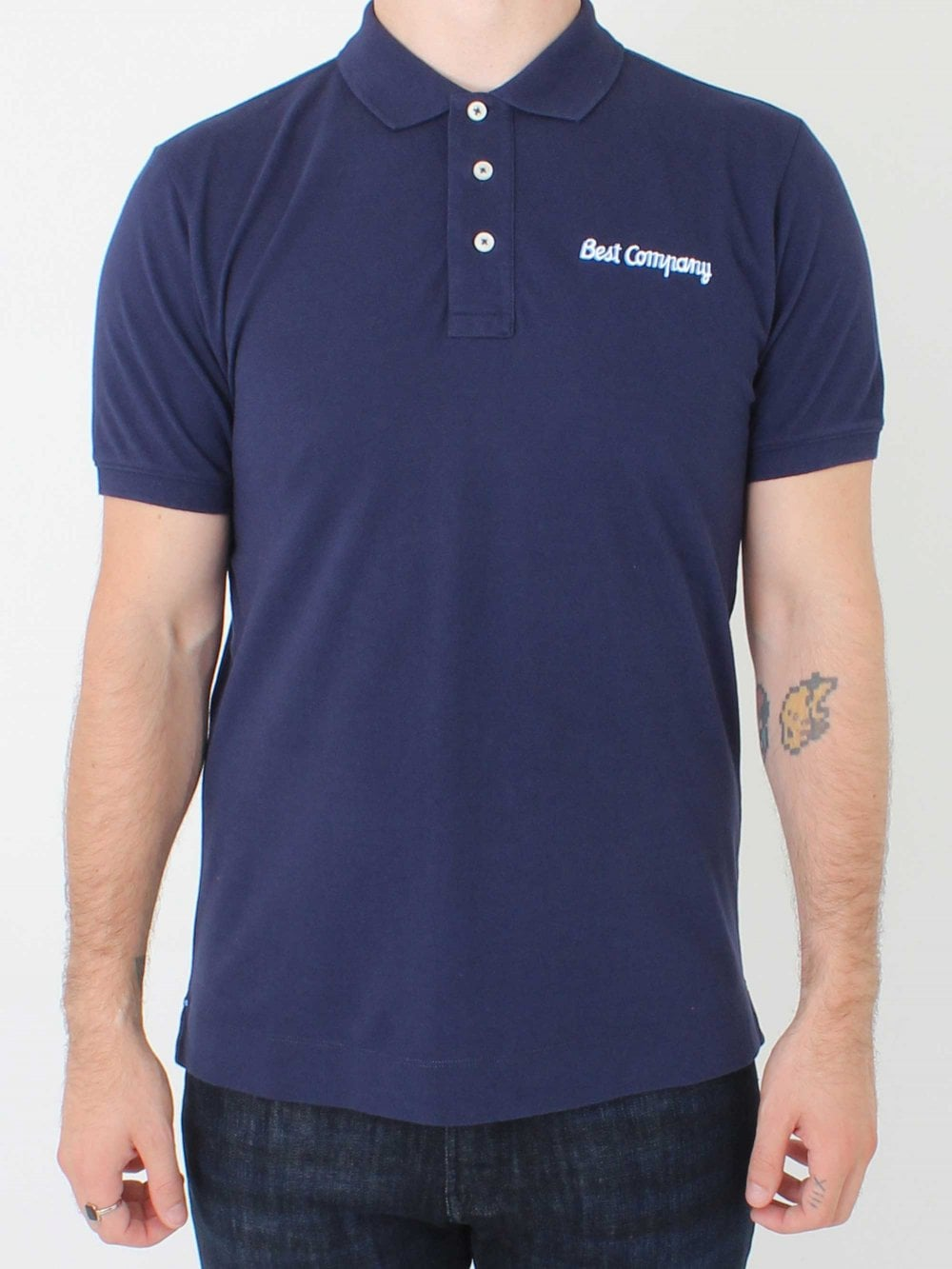 Basic Logo Polo Navy
