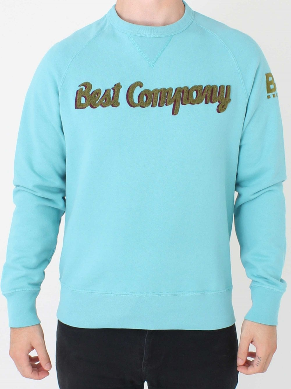 Best Company Crew Neck Logo Sweatshirt In Turquoise