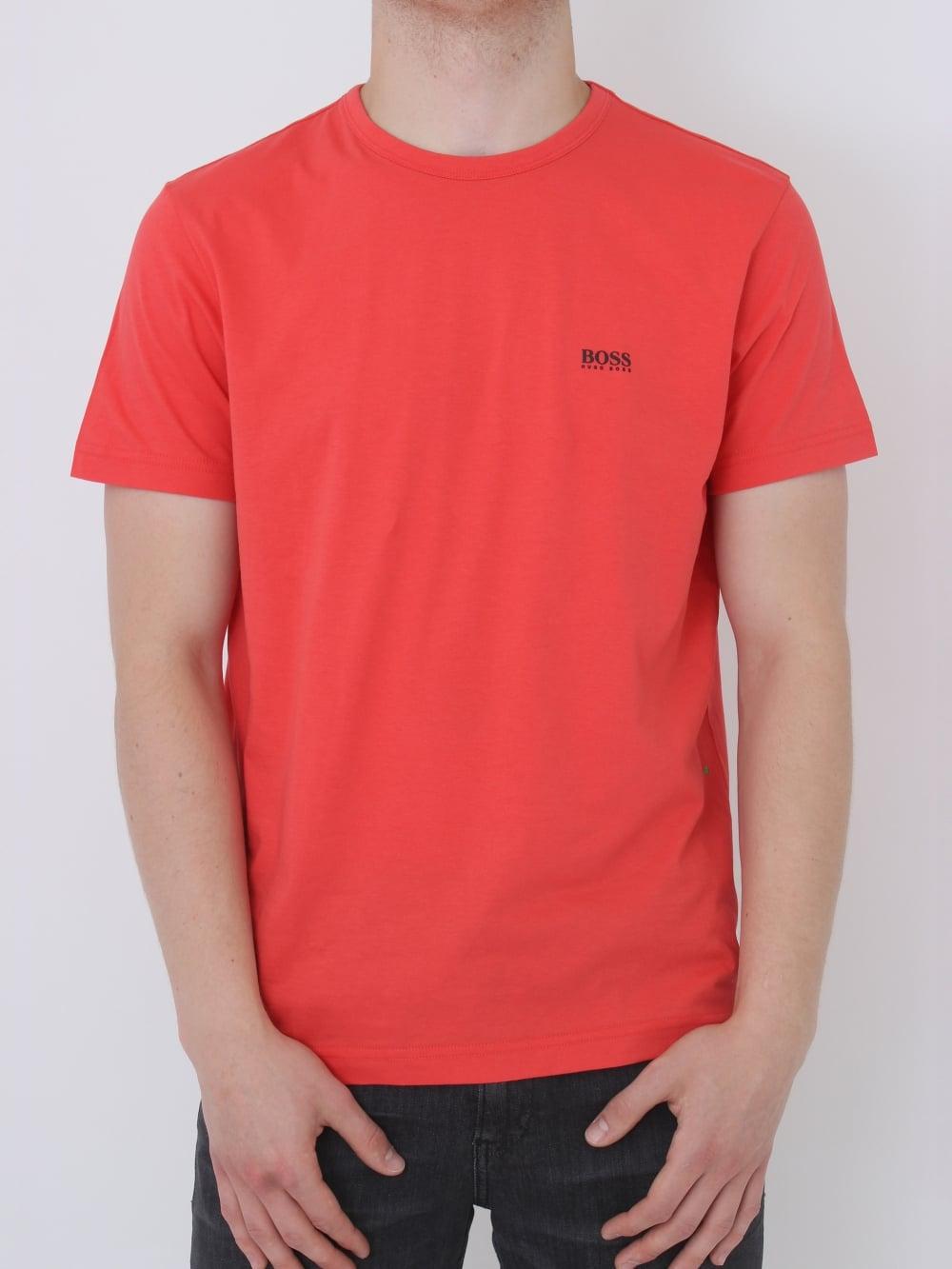 0ba0d686d HUGO BOSS - BOSS Green Basic Logo Crew Neck T.Shirt in Pink ...