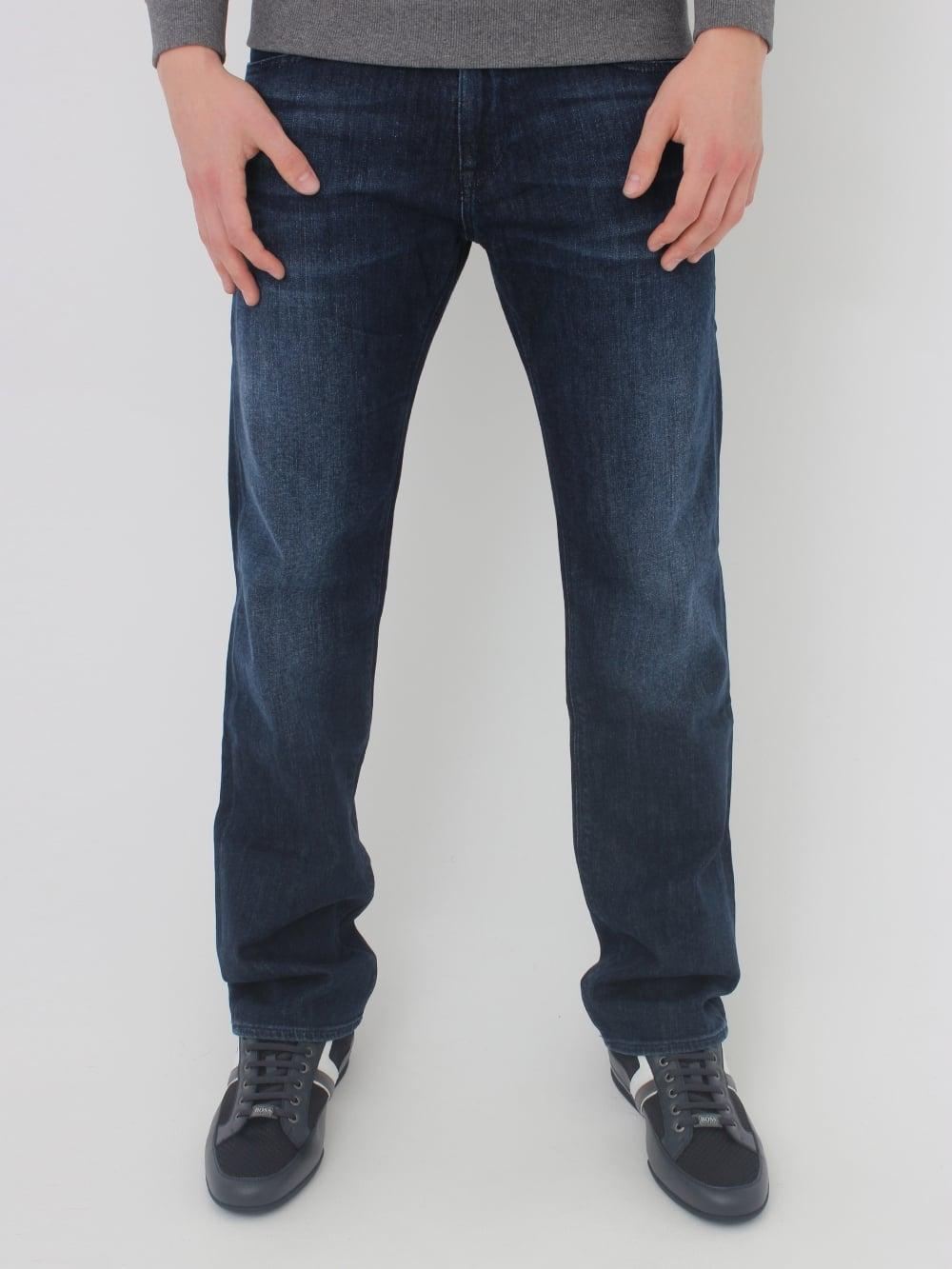 1d669869d543 HUGO BOSS - BOSS Green C-Maine 1 Regular Fit Jeans in Dark Denim ...