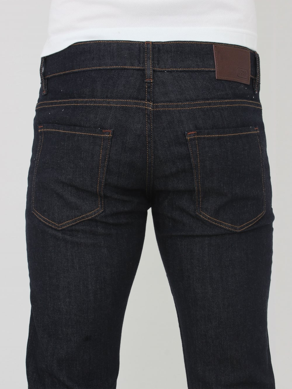174f009522ad1 HUGO BOSS - BOSS Green Delaware 1 Slim Fit Jeans In Dark Blue ...