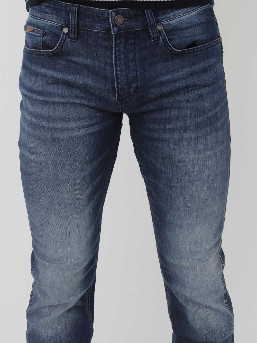 e8d2a4a198782 HUGO BOSS BOSS Green Delaware 1 Slim Fit Jeans in Navy - Northern ...