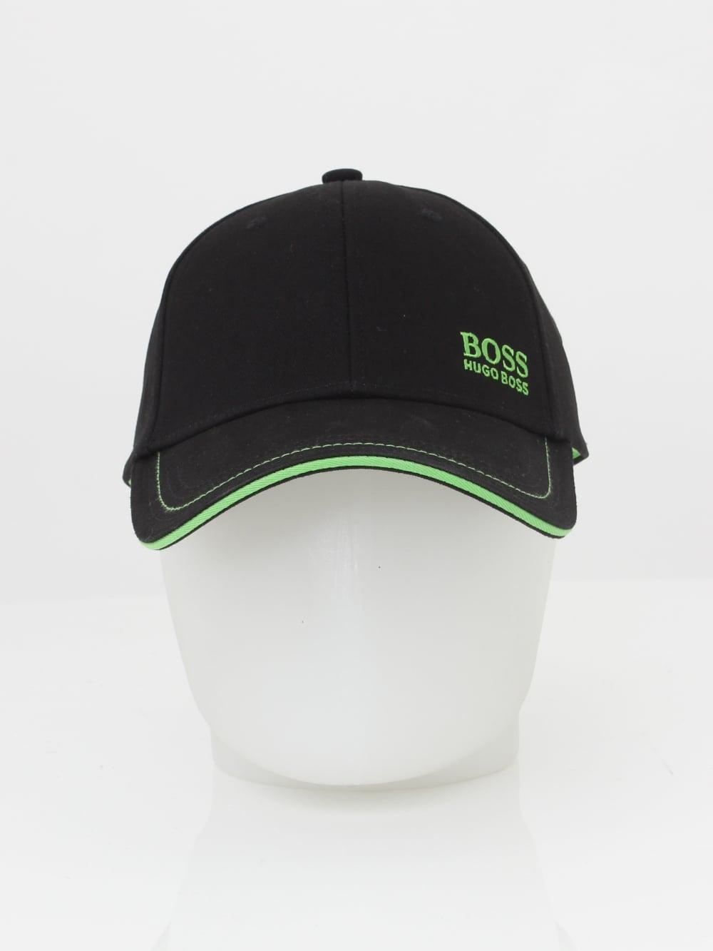 HUGO BOSS - Boss Green Logo Cap 1 in Black - Northern Threads 6a5154e8d8e