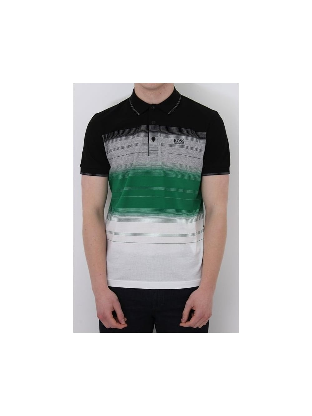 f7033814b HUGO BOSS BOSS Green Paddy 3 Polo In Black - Northern Threads