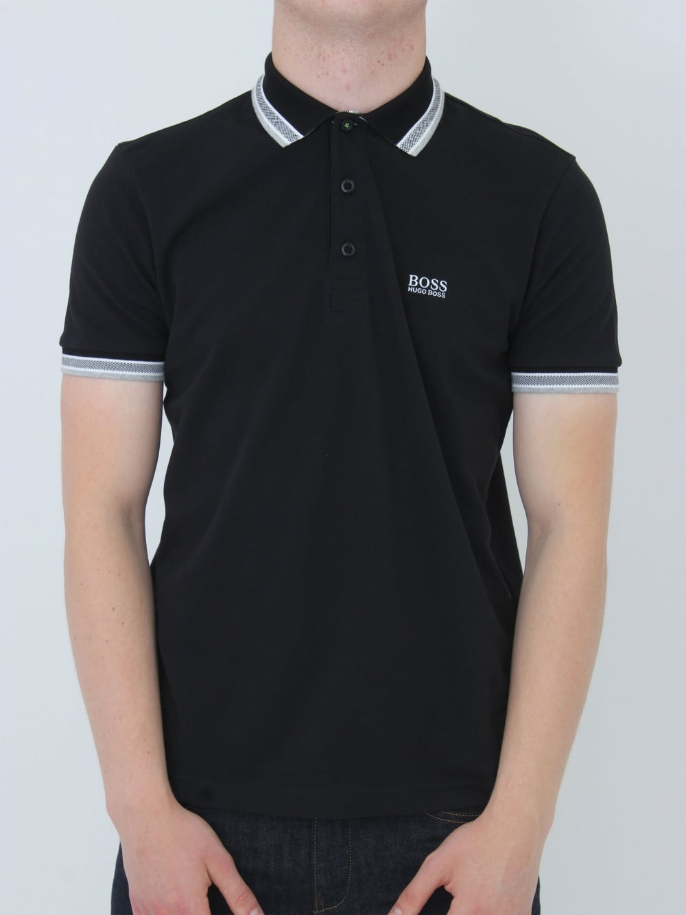 29c42a10 Hugo Boss Green Paddy Polo in Black - Northern Threads