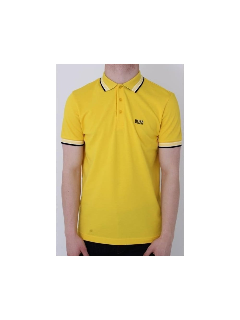 043affaa HUGO BOSS - BOSS Green Paddy Polo In Yellow - Northern Threads