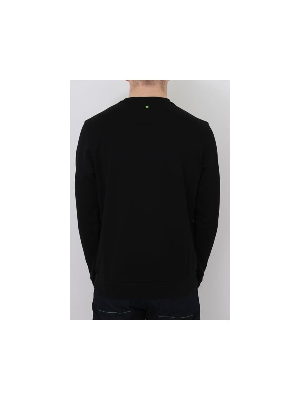 HUGO BOSS BOSS Green Salbo Sweat In Black - Northern Threads d166438975f2