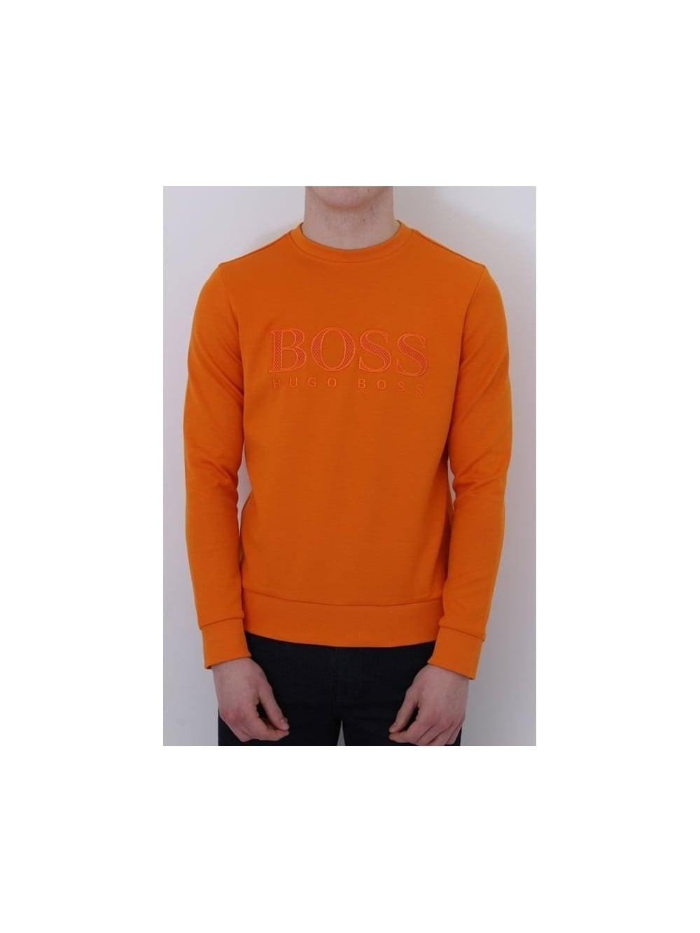 HUGO BOSS BOSS Green Salbo Sweat In Orange - Northern Threads 71e1fb51cc9e