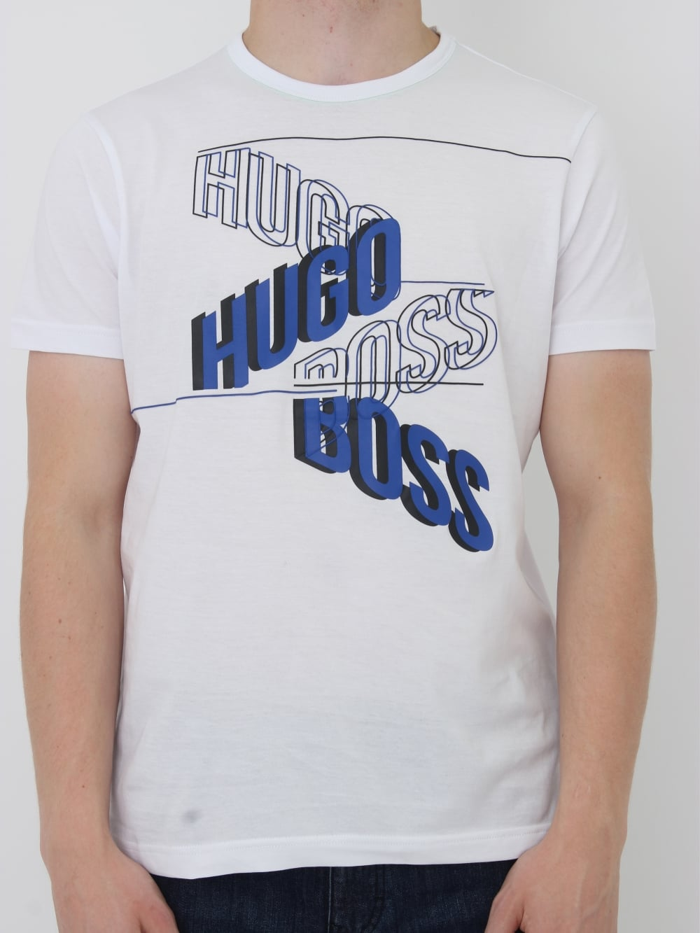 e24e48ec9a HUGO BOSS BOSS Green Tee 2 Printed T-Shirt in white - northern threads