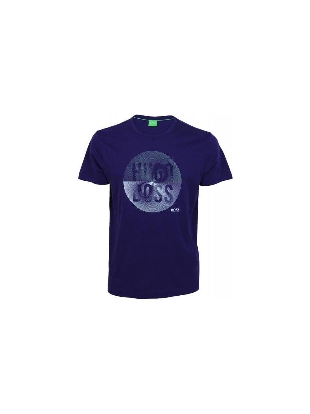 c76764071 Hugo Boss Green Contrast Circle 3 T Shirt in Purple - Northern Threads